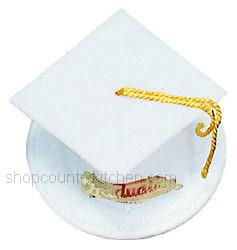 Graduation Hat-White