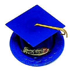 Graduation Hat-Dark Blue