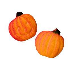Dec-Ons® Molded Sugar - Pumpkin/Jack-O-Lantern
