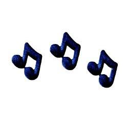 Dec-Ons® Molded Sugar - Black Music Notes