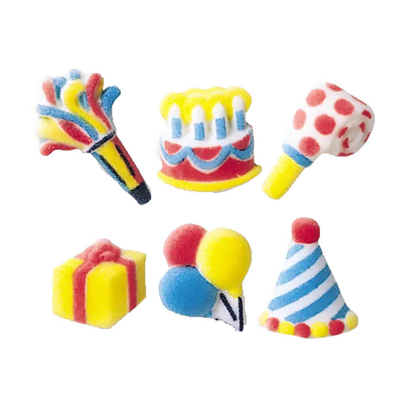 Dec-Ons® Molded Sugar - Mini Birthday Assortment