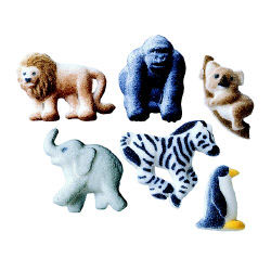 Dec-Ons® Molded Sugar - Zoo Animals