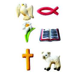Dec-Ons® Molded Sugar - Christian Assortment