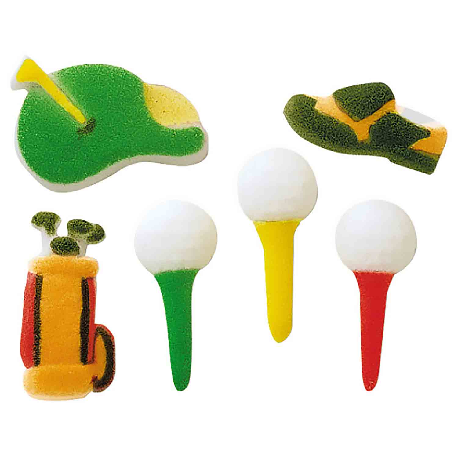 Dec-Ons® Molded Sugar - Golf Assortment