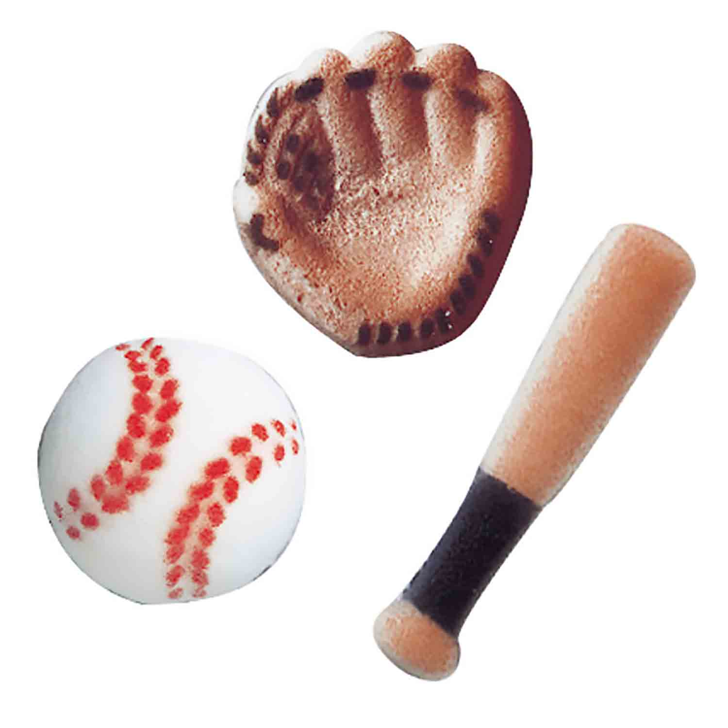 Dec-Ons® Molded Sugar - Baseball Assortment