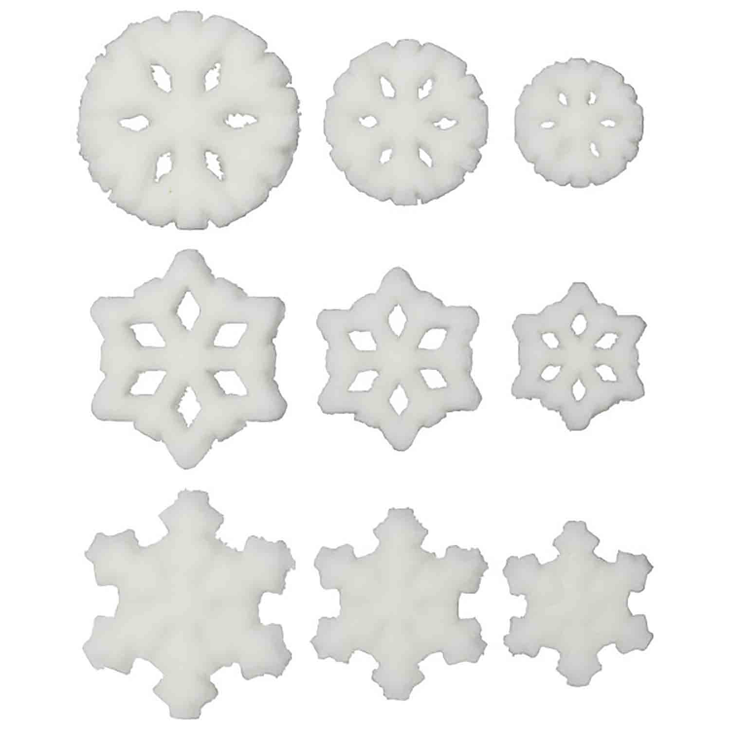 Dec-Ons® Molded Sugar - Snowflakes