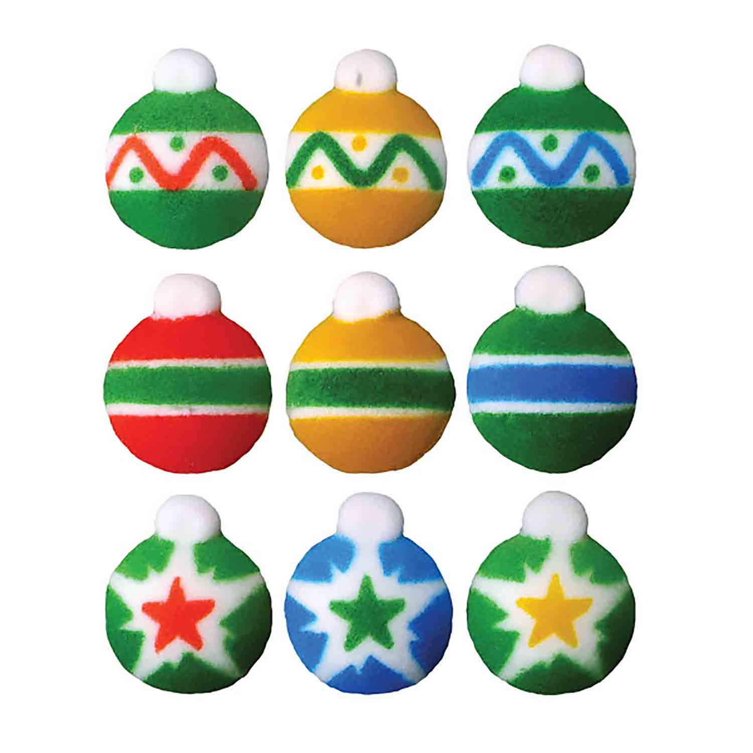 Dec-Ons® Molded Sugar - Mini Ornaments