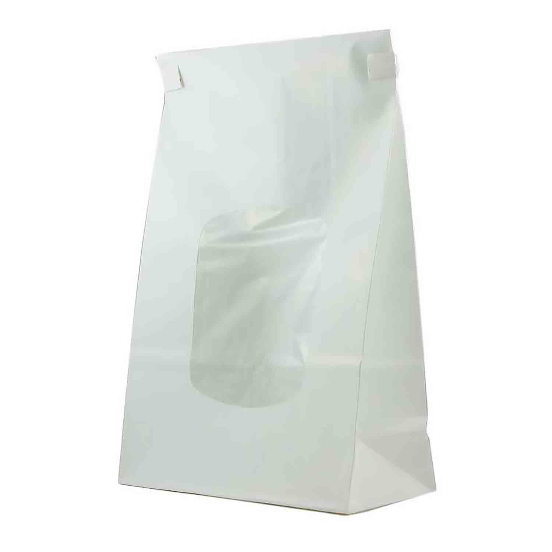 White Lined Bag w/ Tie 6 x 2 x 9