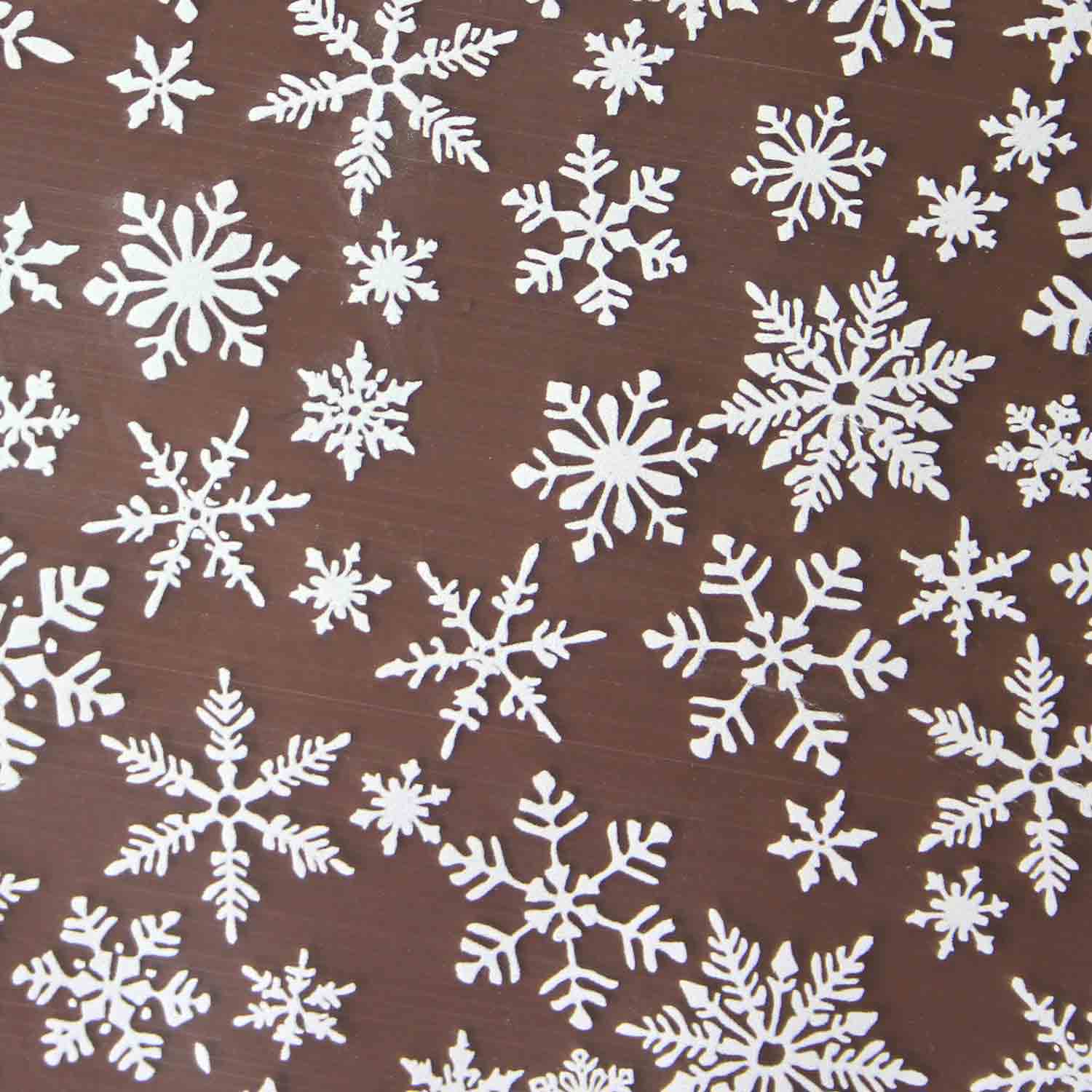 Chocolate Transfer Sheet - Snowflake