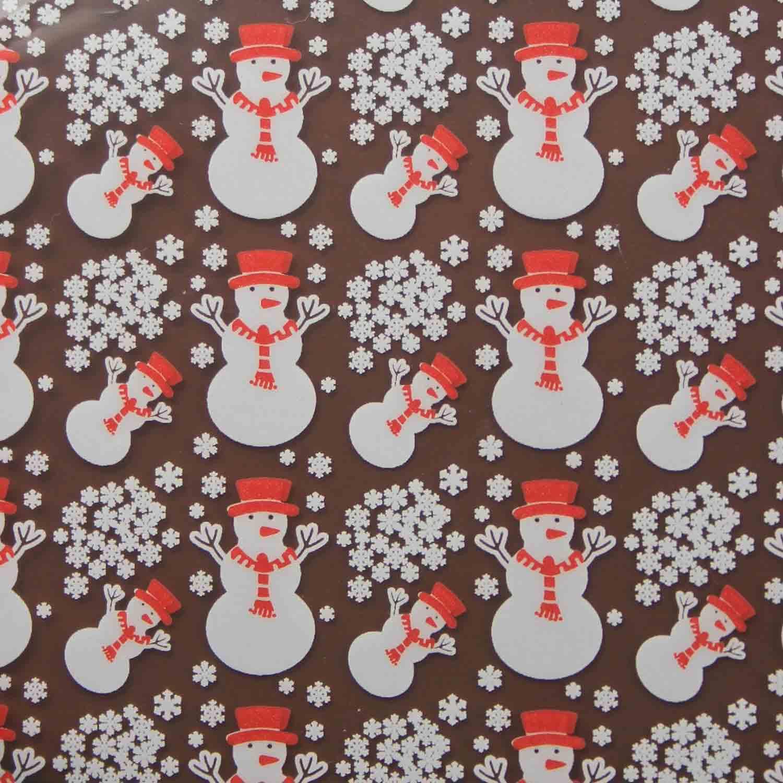 Chocolate Transfer Sheet- Snowman