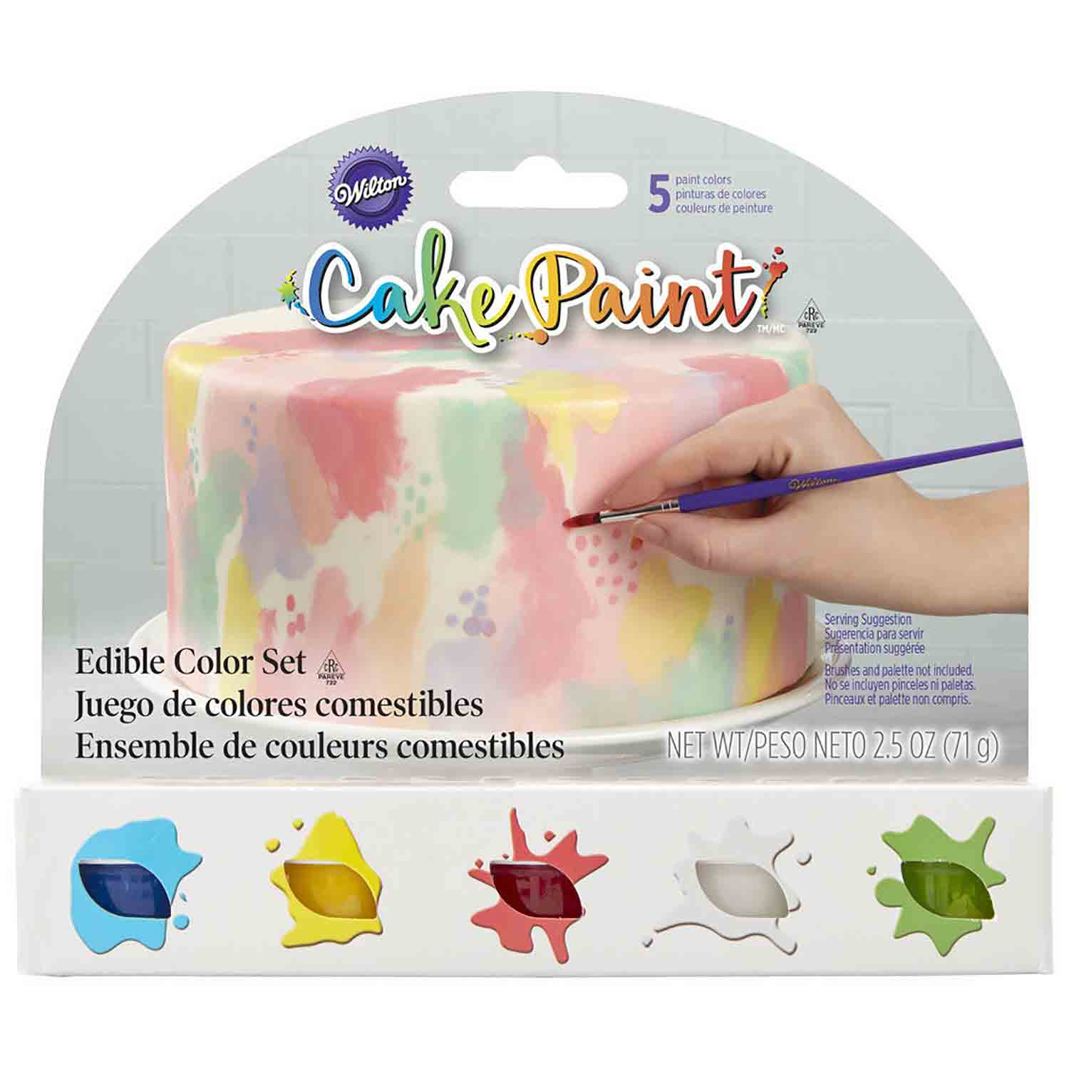 Primary Color Cake Paint Set