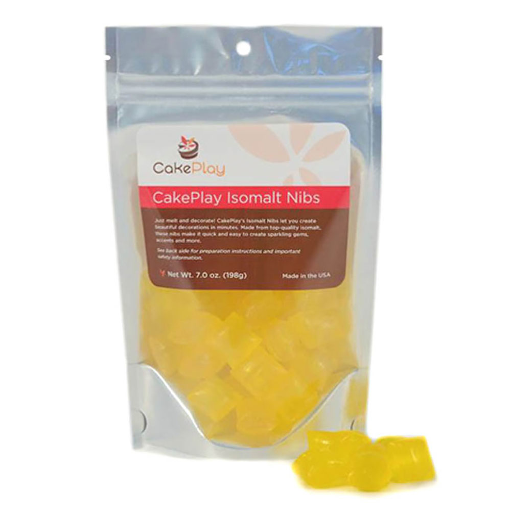 Yellow Isomalt Nibs
