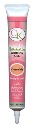 Orange Creamsicle Shimmer Write On Piping Gel