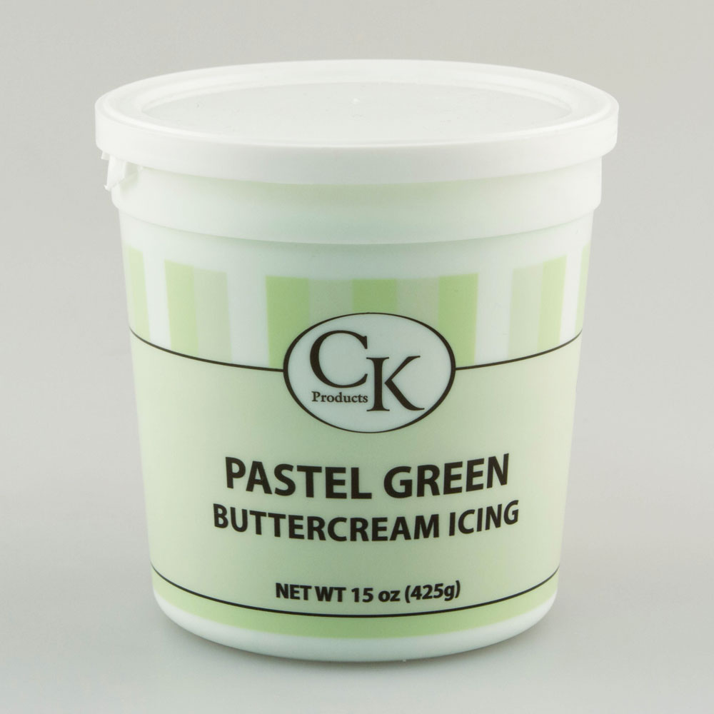 Pastel Green Decorating Buttercream Icing