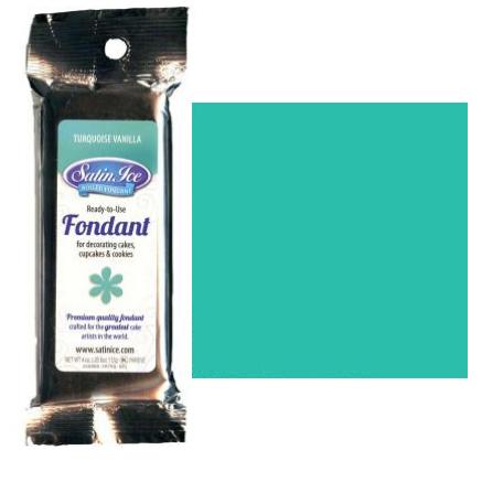 Turquoise Satin Ice Rolled Fondant