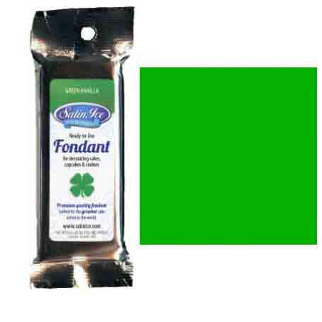 Green Satin Ice Rolled Fondant