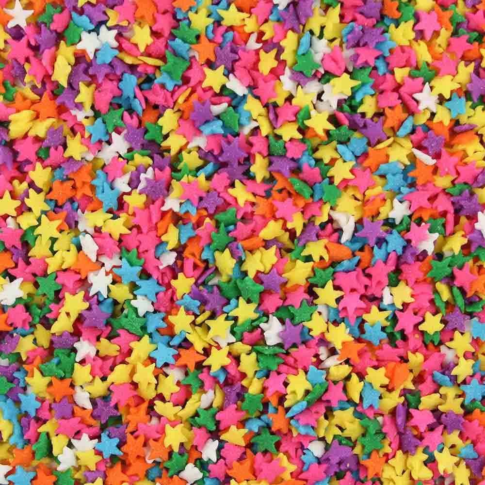 Pastel Colored Stars Edible Confetti Sprinkles