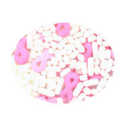 Pink Ribbon Mix Edible Confetti Sprinkles