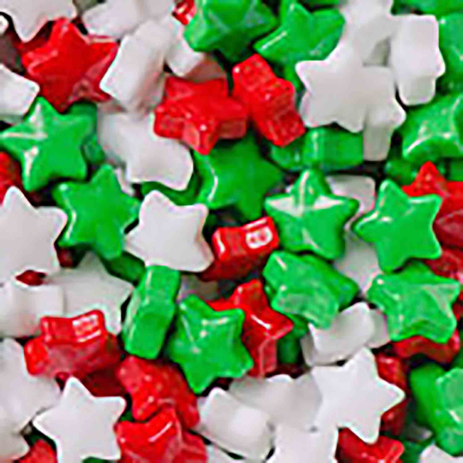 Christmas Stars Candy Shapes