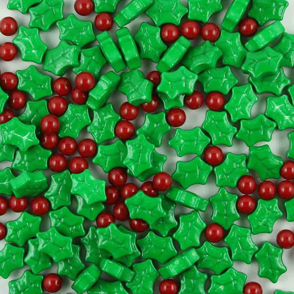 Holly & Berries Candy Shapes