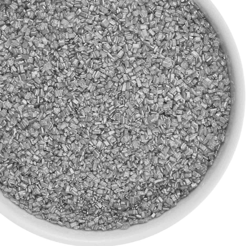 Shimmering Silver Coarse Sugar/ Sugar Crystals