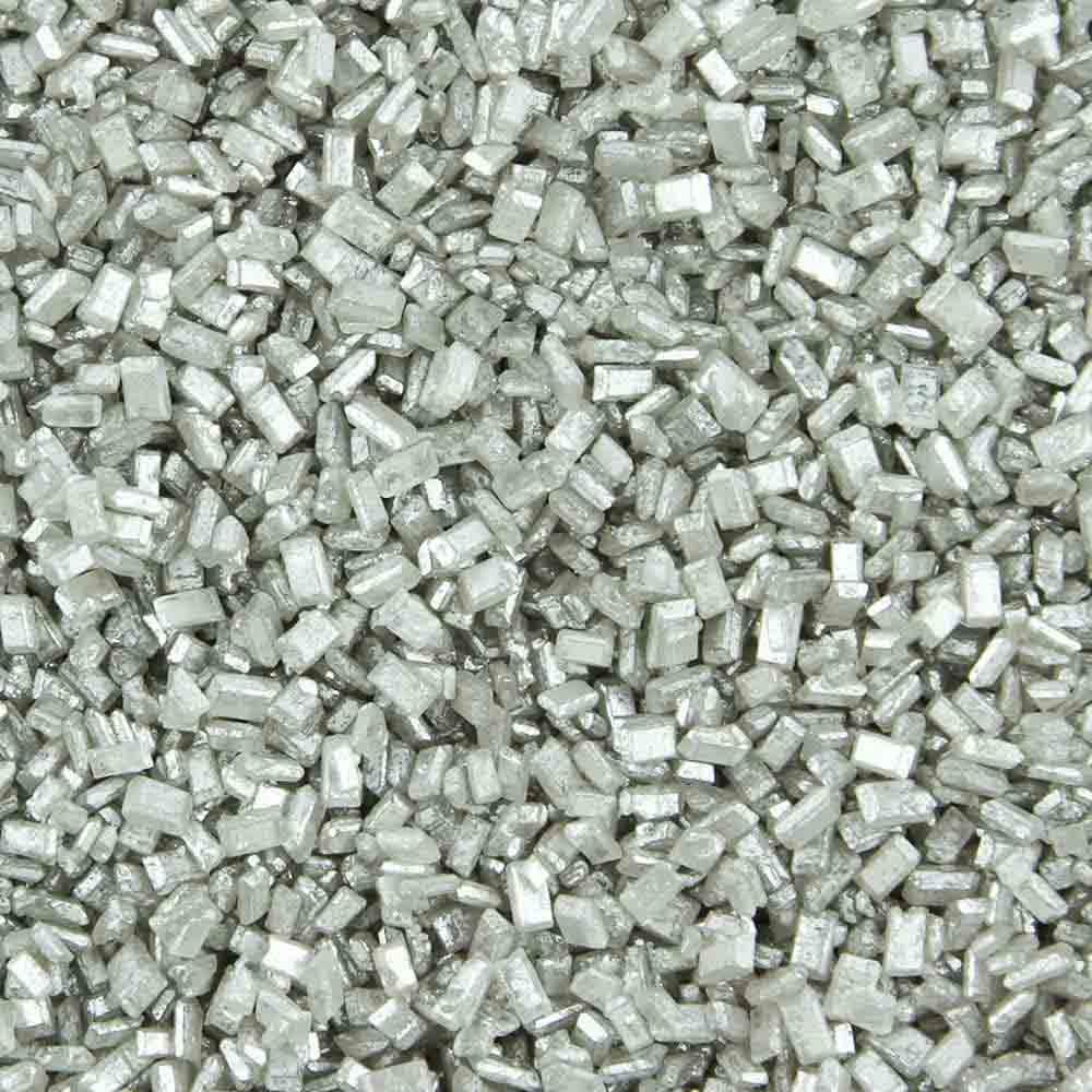 Shimmering Silver Coarse Sugar / Sugar Crystals