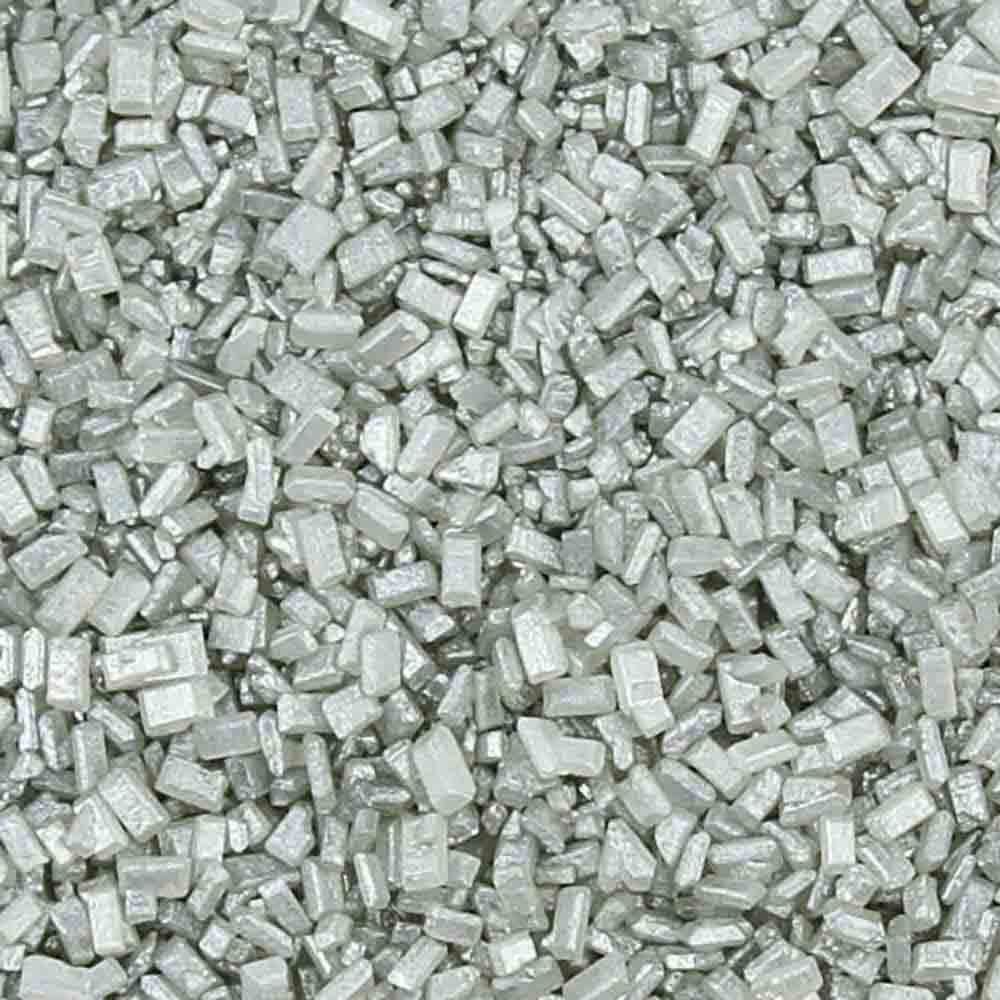 Silver Pearlized Coarse Sugar / Sugar Crystals