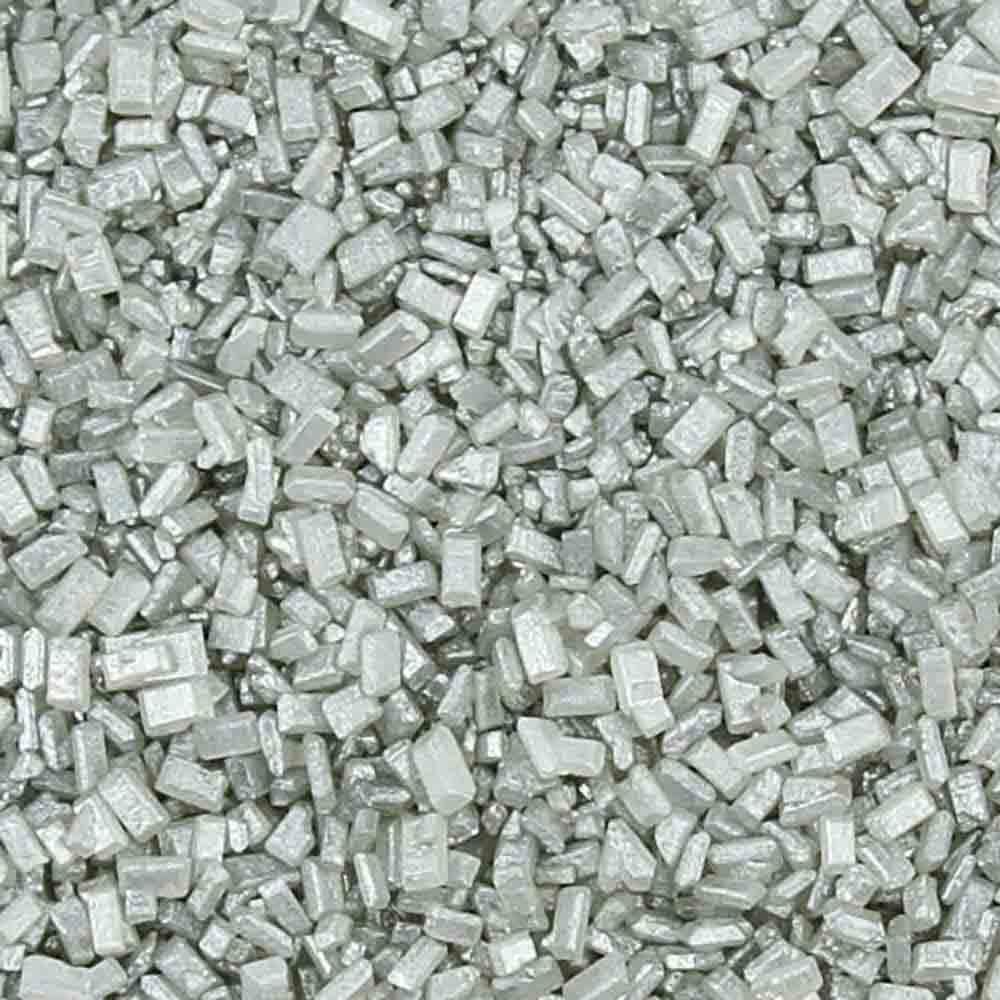 Silver Pearlized Coarse Sugar / Sugar Crystals
