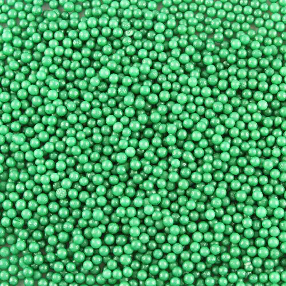 4mm Green Sugar Pearls