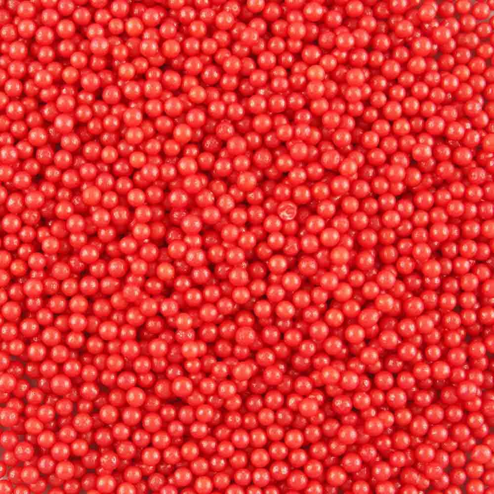 4mm Red Sugar Pearls