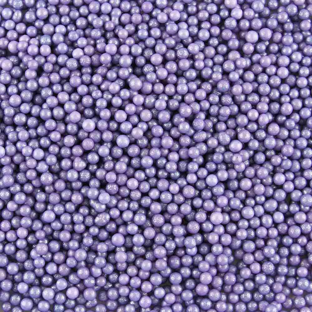 4mm Purple Sugar Pearls