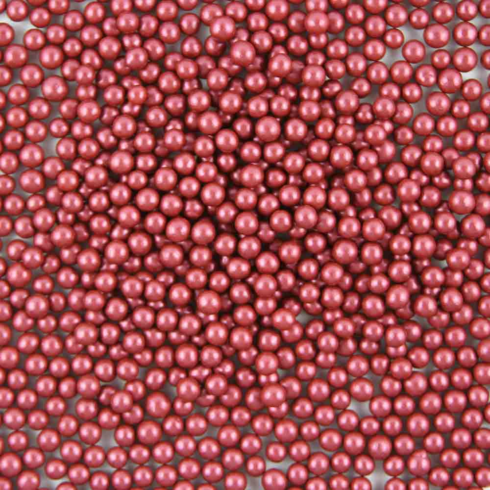 5mm Bordeaux Metallic Dragees