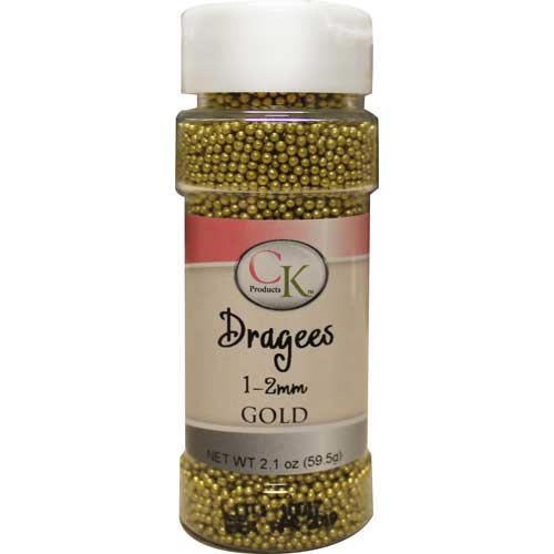 2mm Gold Dragees