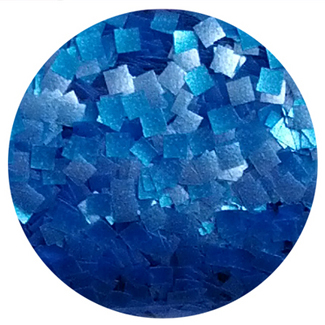 Blue Squares Edible Glitter