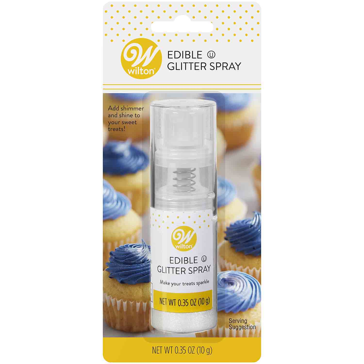 Silver Edible Glitter Spray