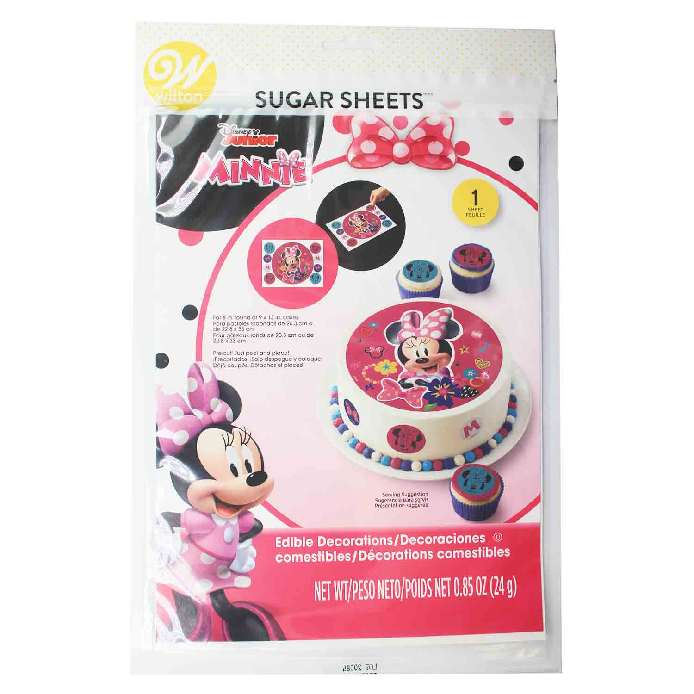Minnie Mouse Sugar Sheets