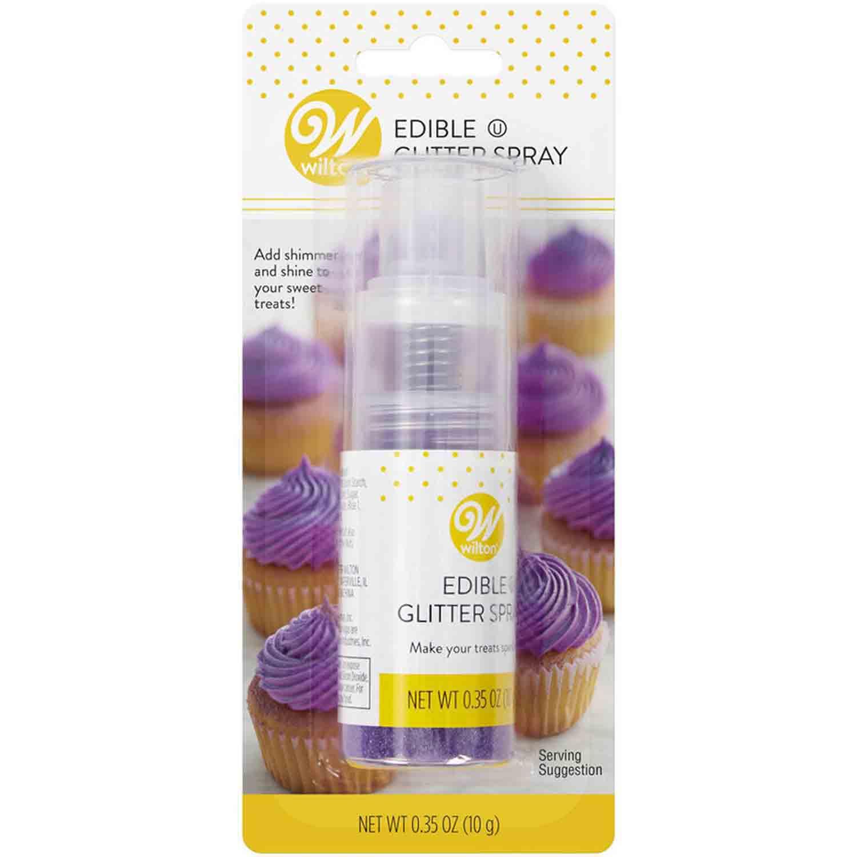 Purple Edible Glitter Spray