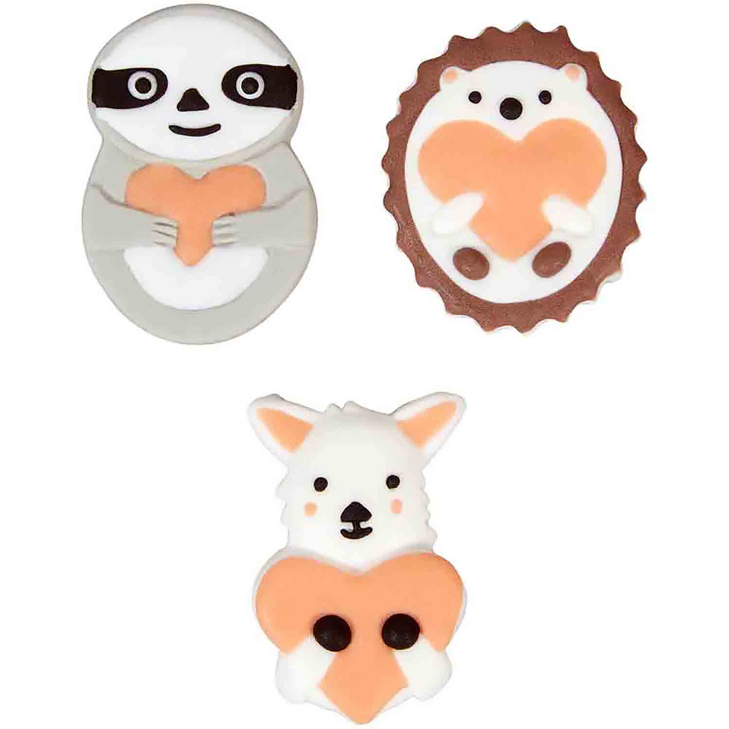 Animal Heart Icing Decorations