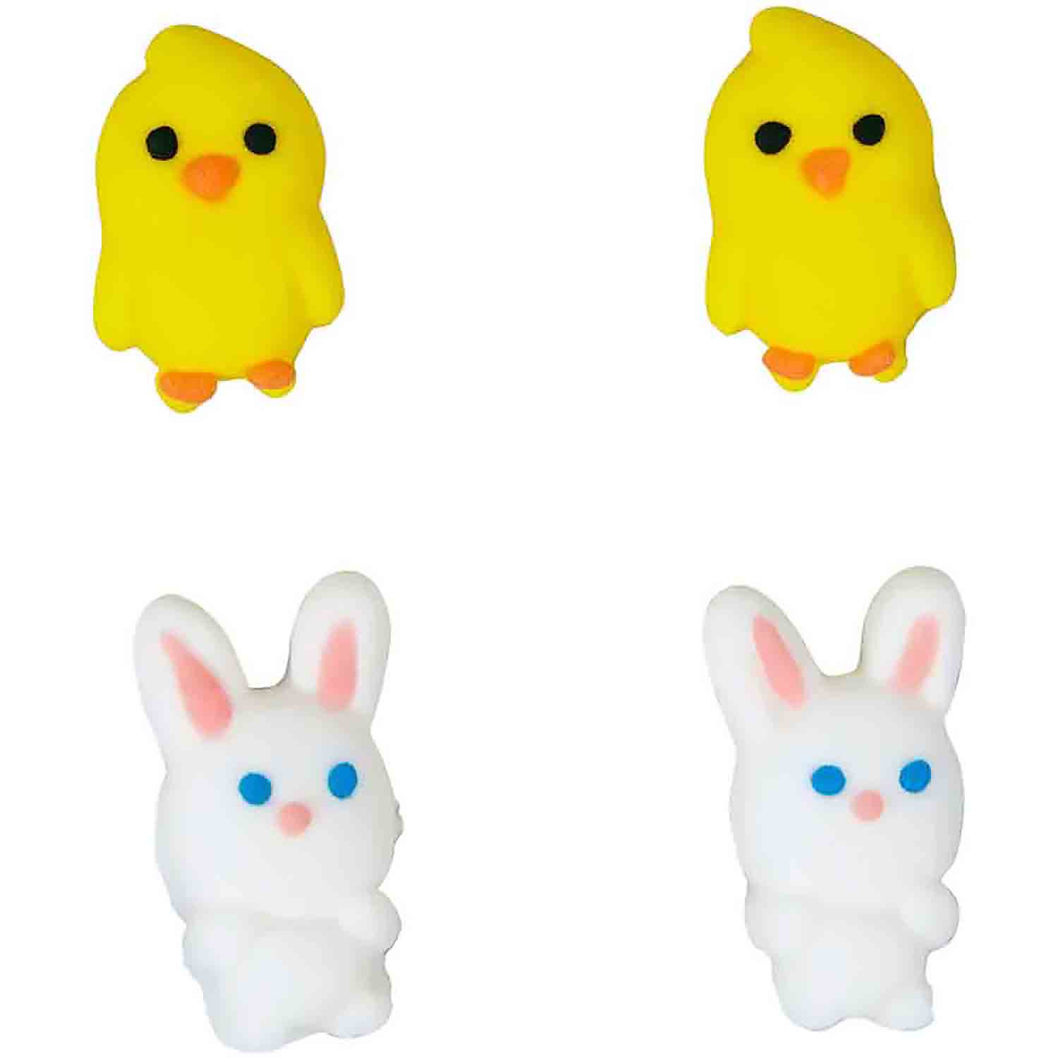 Chick and Bunny Icing Decorations