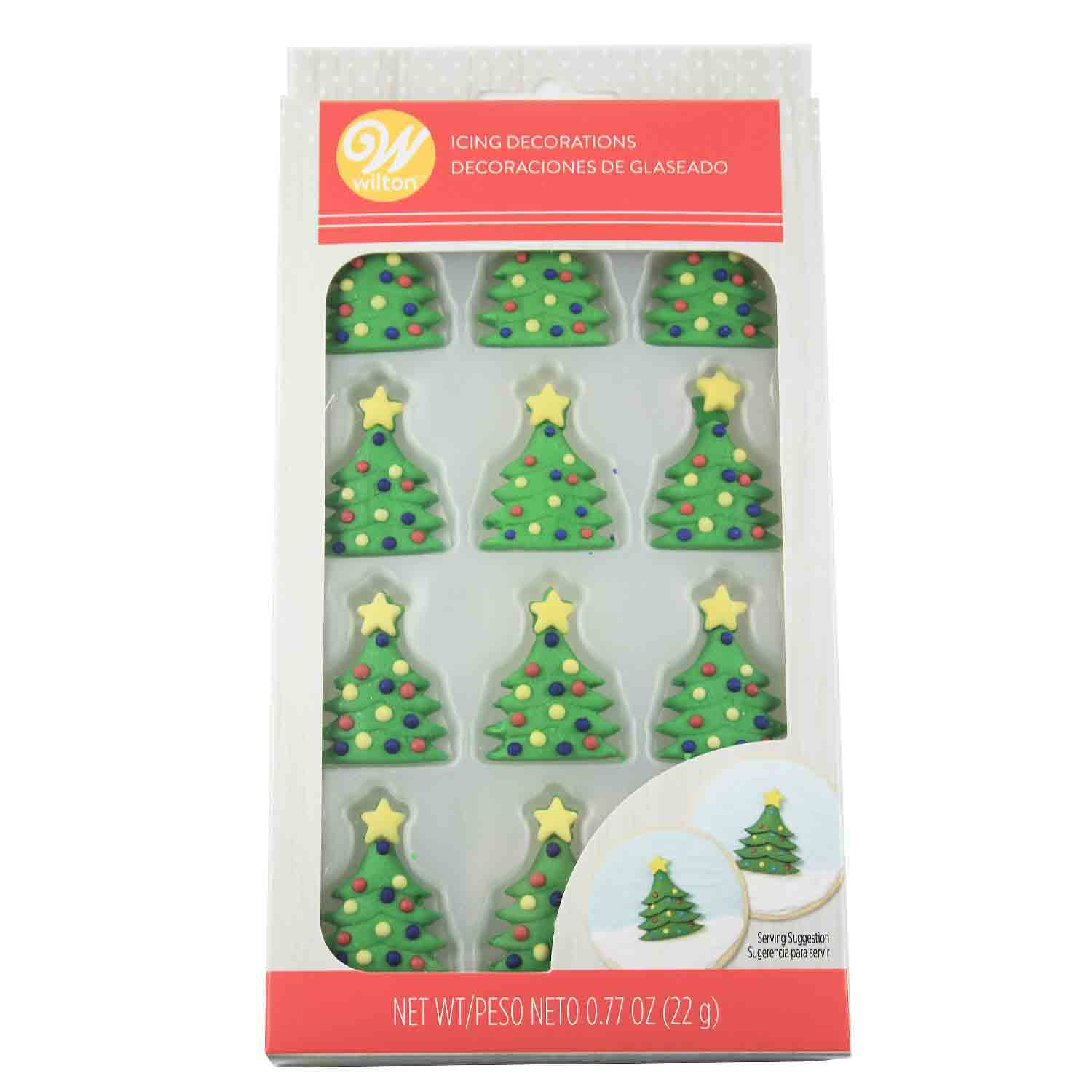 Christmas Tree Icing Decorations