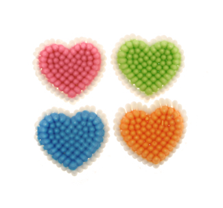 Colorful Hearts Icing Decorations