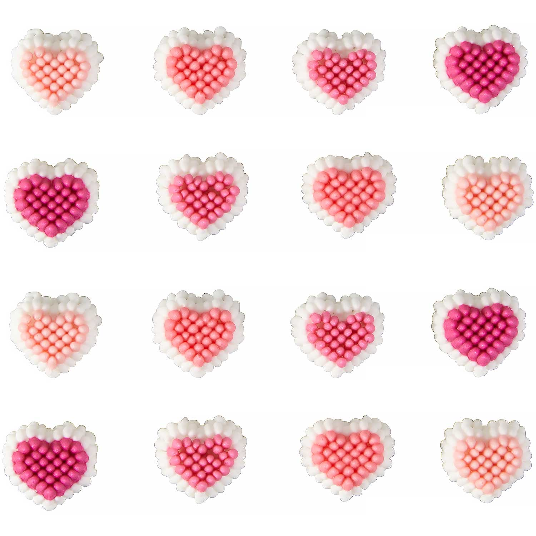 Mini Hearts Icing Decorations