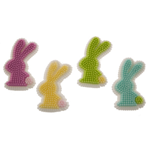 Silhouette Bunny Icing Decorations