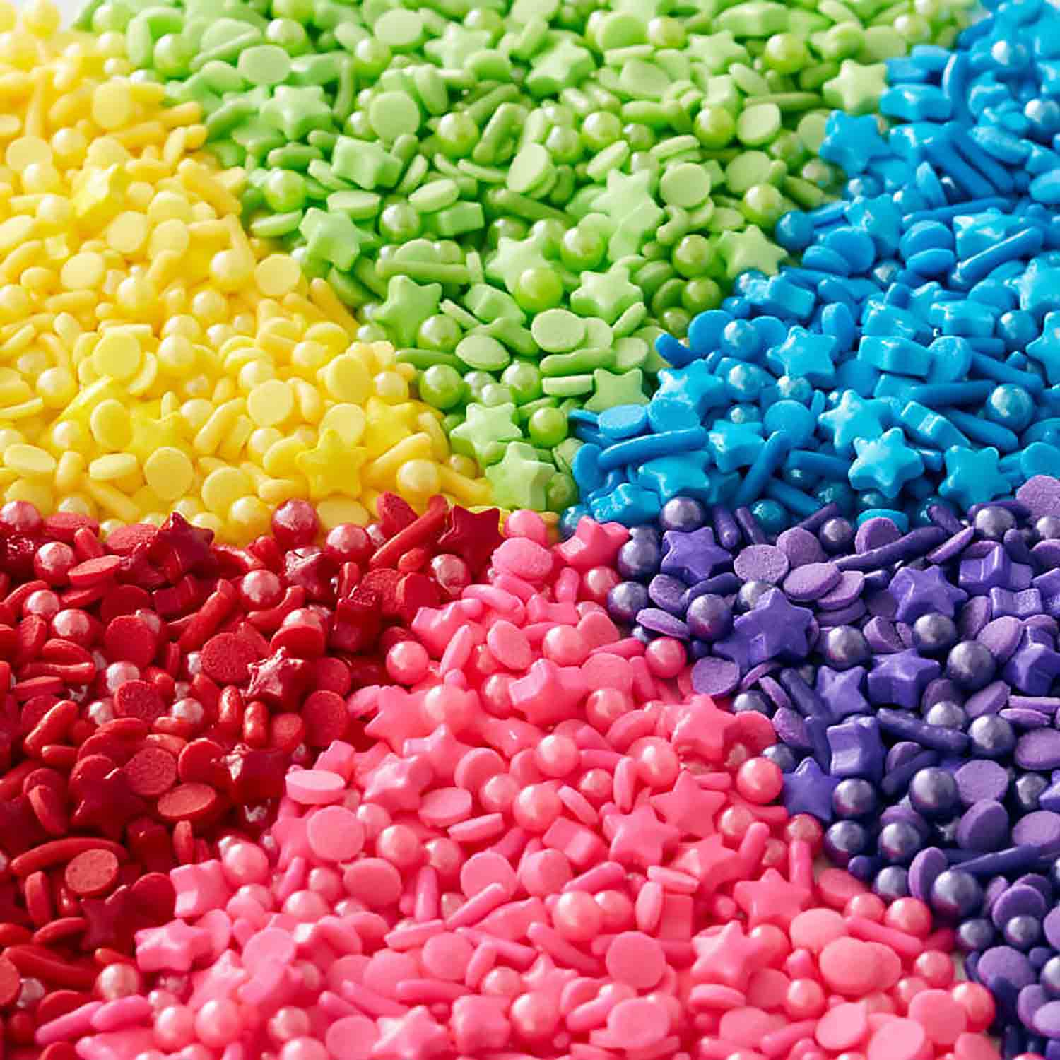 Rainbow Medley 6 Cell Sprinkle Mix