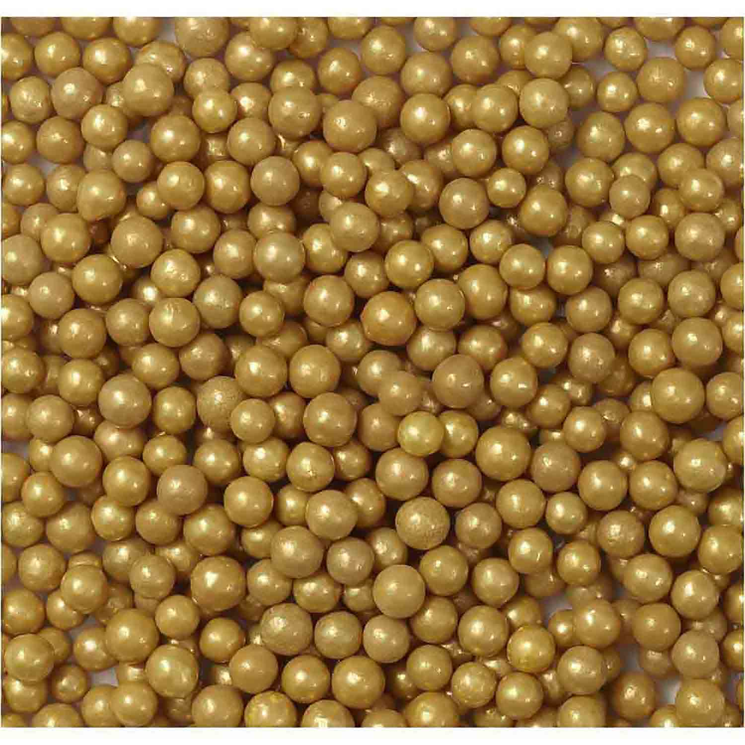Gold Sugar Pearls / Dragees