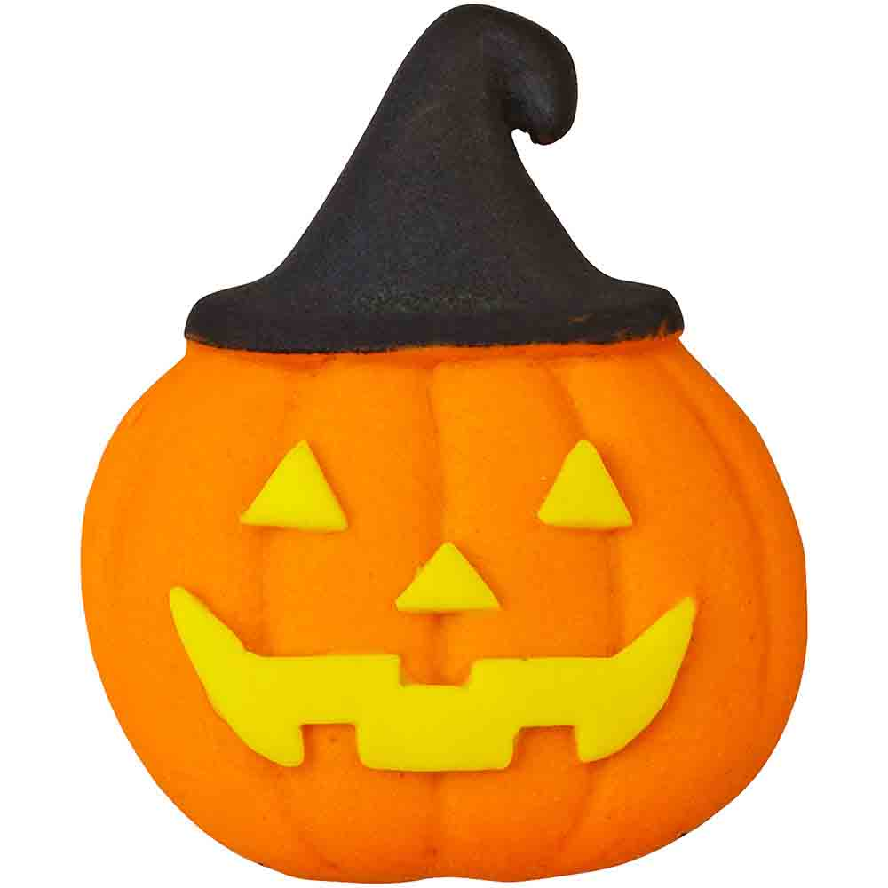 Pumpkin with Hat Icing Decorations