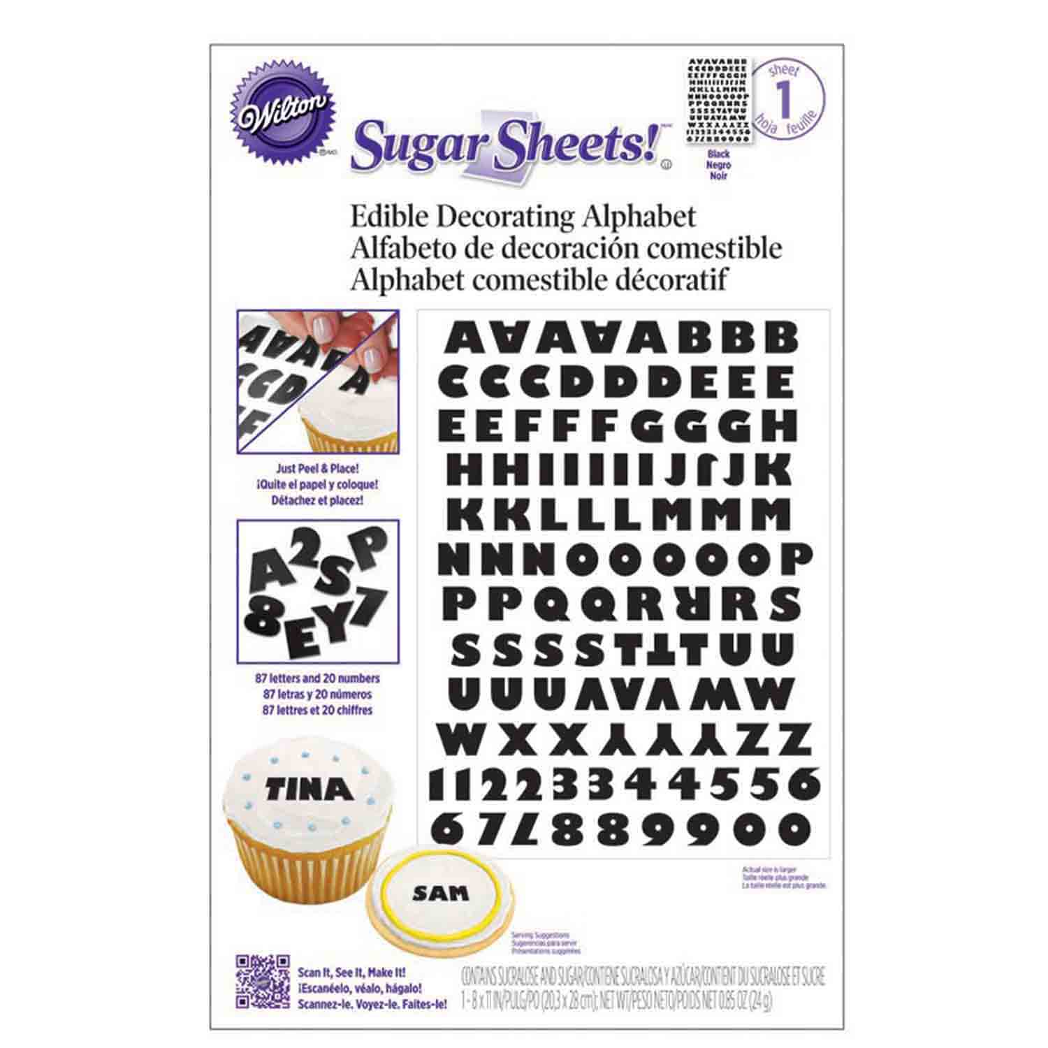 Sugar Sheets™- Black and White Alphabet