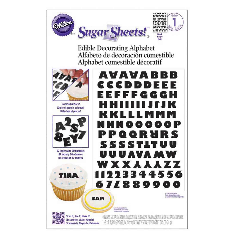 Sugar Sheets!™- Black and White Alphabet