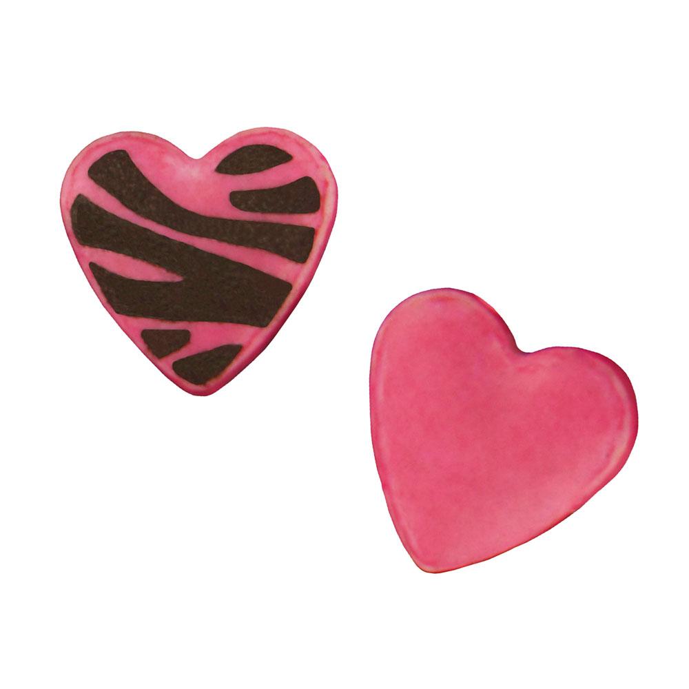 Zebra Print Heart Sprinkles
