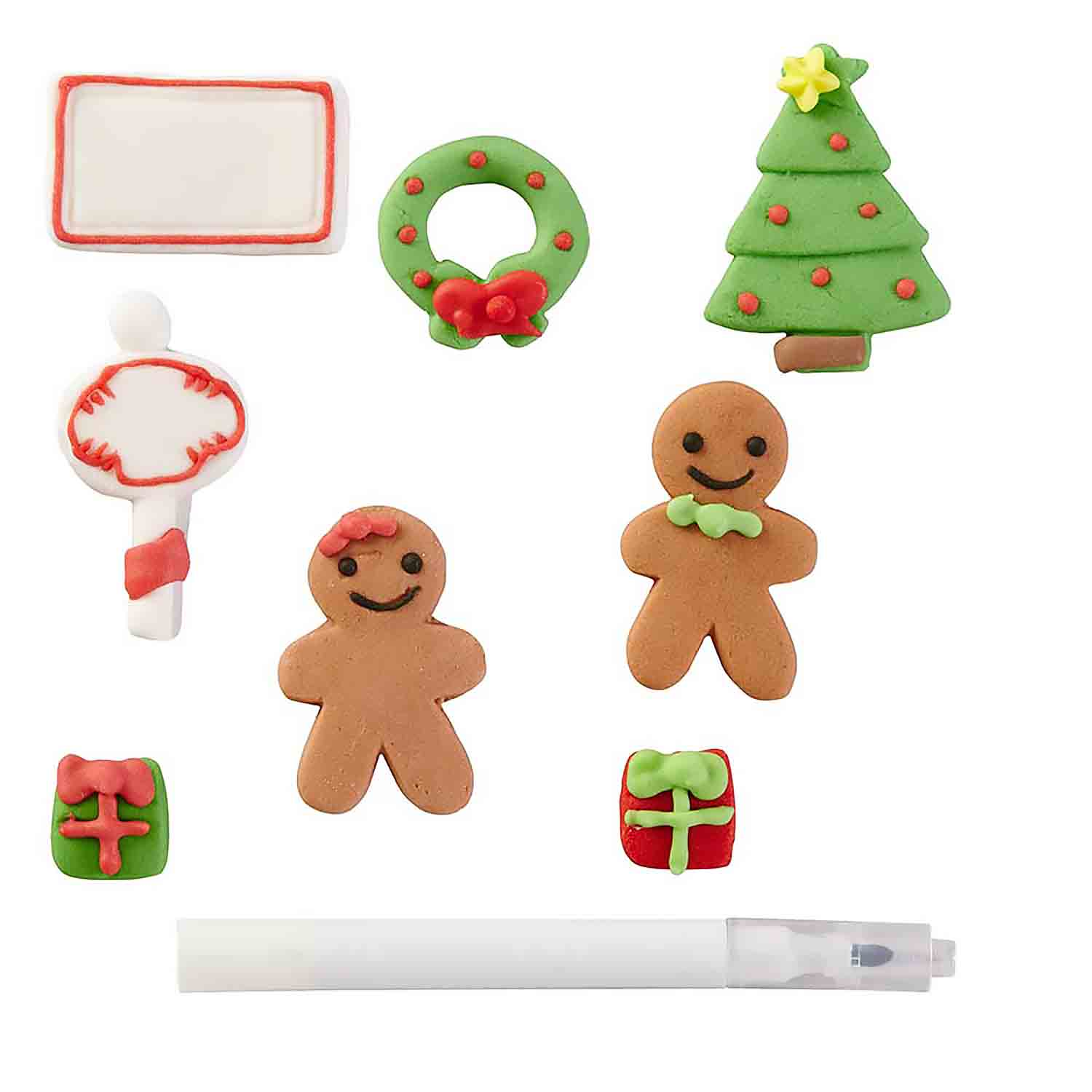 Gingerbread Family Icing Decorations